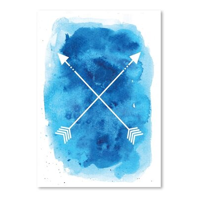 Americanflat 'Blue Watercolour Arrow' by Jetty Printables Graphic Art