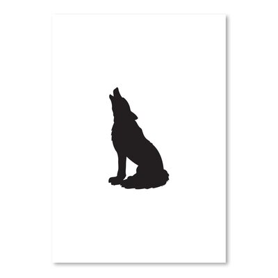 Americanflat 'Wolf' by Jetty Printables Graphic Art in Black