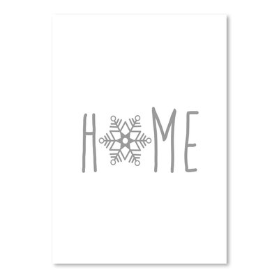 Americanflat 'Grey Home Snowfake' by Jetty Printables Typography