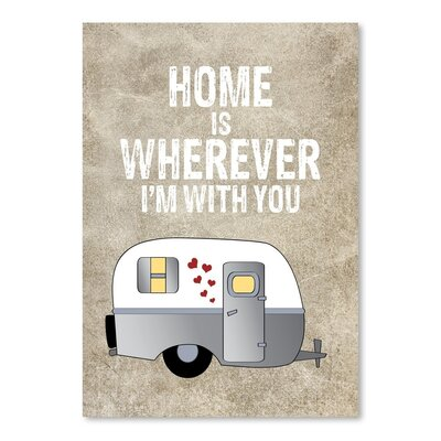 Americanflat 'Camper Home Is Wherever' by Amy Brinkman Graphic Art