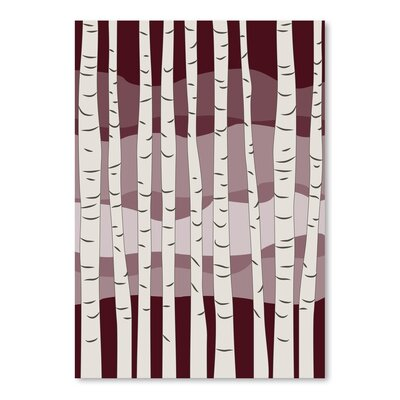 Americanflat 'Burgundy Birch Trees' by Jetty Printables Graphic Art