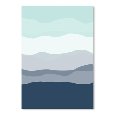 Americanflat 'Mint Navy Abstract' by Jetty Printables Graphic Art