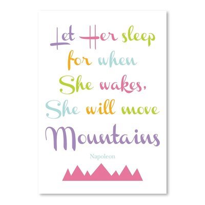 Americanflat 'Let Her Sleep Mountains Multi' by Amy Brinkman Typography