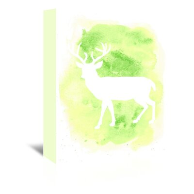 Americanflat 'Watercolour Deer Body' by Jetty Printables Graphic Art Wrapped on Canvas