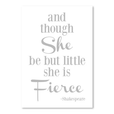 Americanflat 'She Is Fierce' by Amy Brinkman Typography