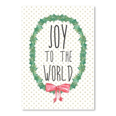Americanflat 'Joy to the Worl' by Jetty Printables Typography