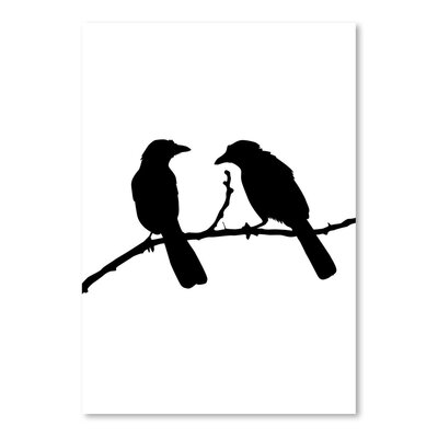 Americanflat 'Black Bird' by Jetty Printables Graphic Art
