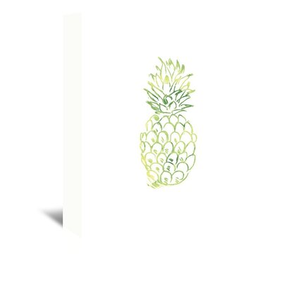 Americanflat 'Watercolour Pineapple' by Jetty Printables Graphic Art Wrapped on Canvas in Green