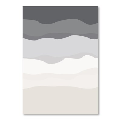 Americanflat 'Grey Beige Abstract' by Jetty Printables Graphic Art