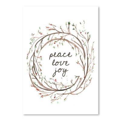 Americanflat 'Peace Love Joy' by Jetty Printables Graphic Art