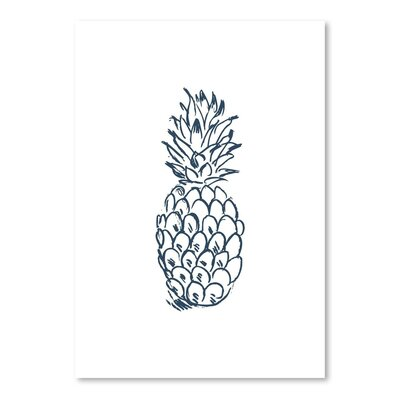 Americanflat 'Pineapple' by Jetty Printables Graphic Art in Dark Blue