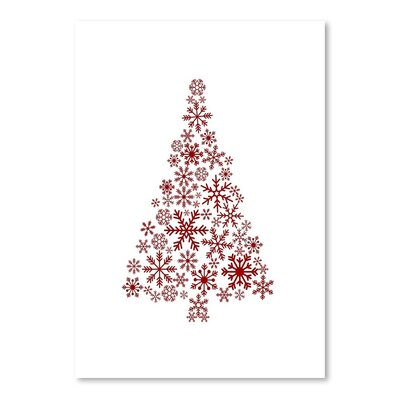 Americanflat 'Red Snowflake Tree' by Jetty Printables Graphic Art