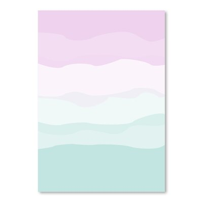 Americanflat 'Mint Lavender Abstract' by Jetty Printables Graphic Art
