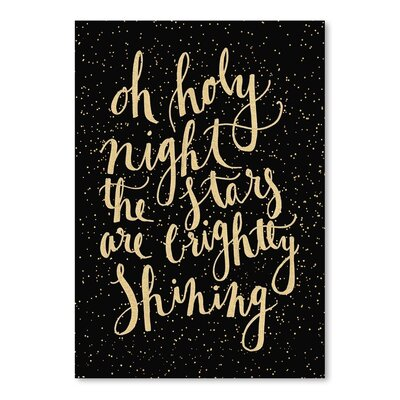 Americanflat 'Holy Nigh' by Jetty Printables Typography