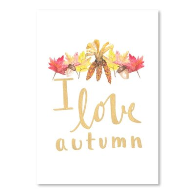 Americanflat 'I Love Autumn' by Jetty Printables Graphic Art