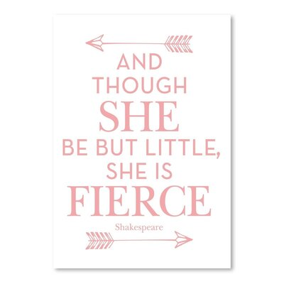 Americanflat 'She is Fierce Pink' by Amy Brinkman Typography