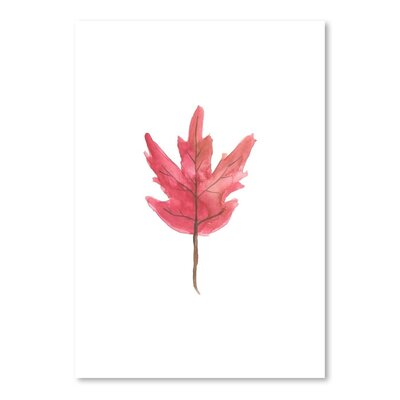 Americanflat 'Watercolour Leaf' by Jetty Printables Graphic Art in Pink