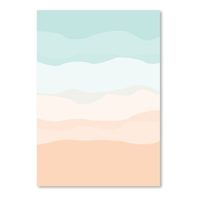 Americanflat 'Mint Peach Abstract' by Jetty Printables Graphic Art