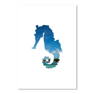 Americanflat 'Tropical Seahorse' by Jetty Printables Graphic Art