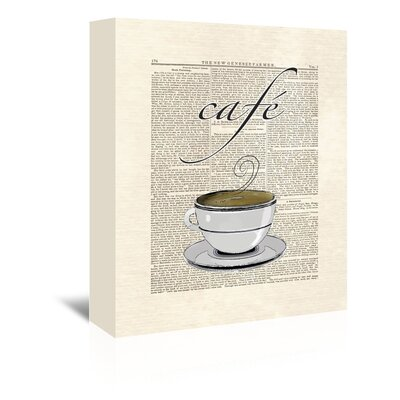 Americanflat 'Cafe Coffee' by Matt Dinniman Graphic Art Wrapped on Canvas