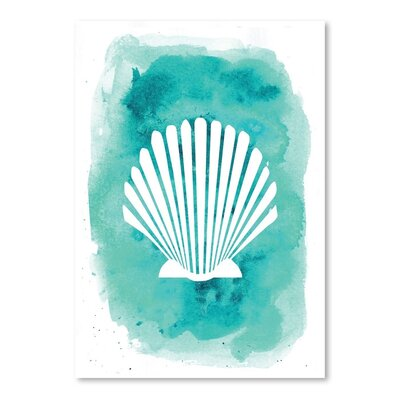 Americanflat 'Watercolour Shell' by Jetty Printables Graphic Art in Blue