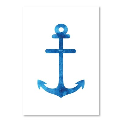 Americanflat 'Watercolourlue Anchor' by Jetty Printables Graphic Art in Blue