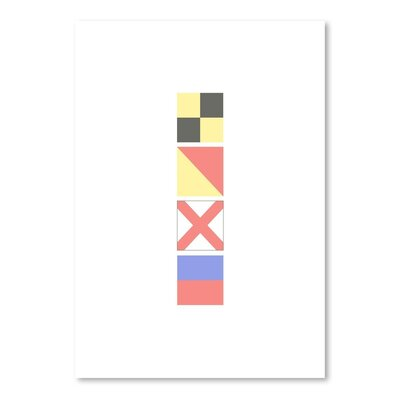 Americanflat 'Love Nautical Flags' by Jetty Printables Graphic Art