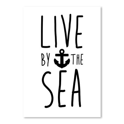 Americanflat 'Live by the Sea' by Jetty Print Tables Typography