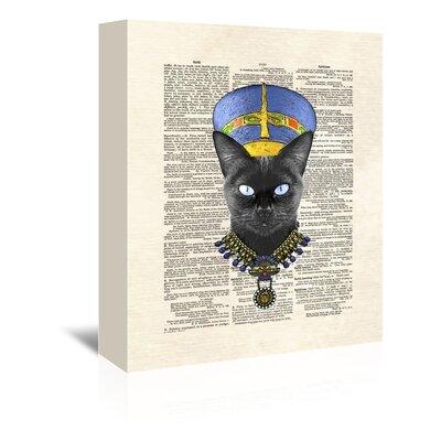 Americanflat 'Cat Nefertiti' by Matt Dinniman Graphic Art Wrapped on Canvas