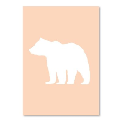 Americanflat 'Peach Bear' by Jetty Printables Graphic Art