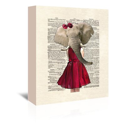 Americanflat 'Elephant Girl' by Matt Dinniman Graphic Art Wrapped on Canvas