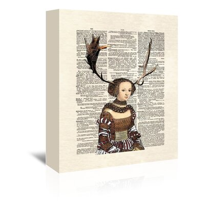 Americanflat 'Antlergirl' by Matt Dinniman Graphic Art Wrapped on Canvas