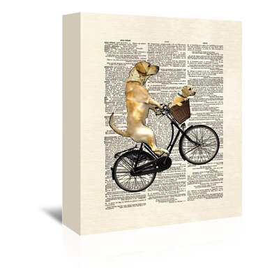 Americanflat 'Labrador Bike' by Matt Dinniman Graphic Art Wrapped on Canvas
