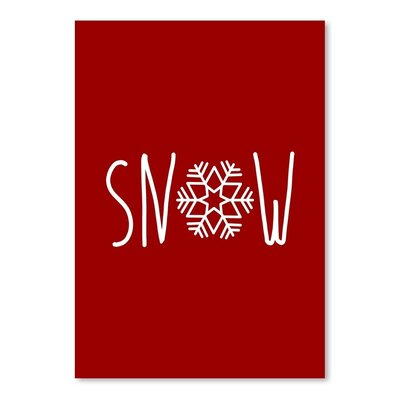 Americanflat 'Snow Snowfake' by Jetty Printables Typography