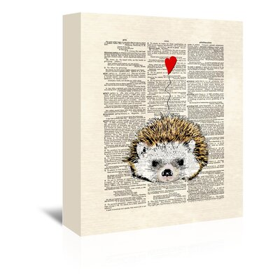 Americanflat 'Hedgehog' by Matt Dinniman Graphic Art Wrapped on Canvas
