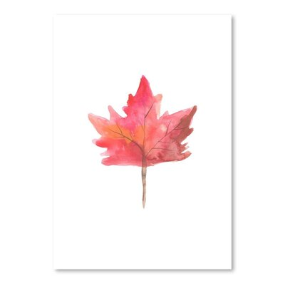 Americanflat 'Watercolour 1 Leaf' by Jetty Printables Art Print