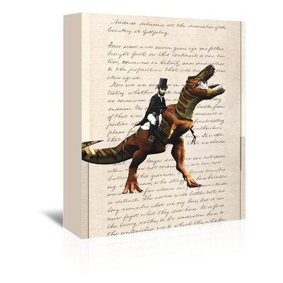 Americanflat 'Lincoln T Rex 2' by Matt Dinniman Graphic Art Wrapped on Canvas