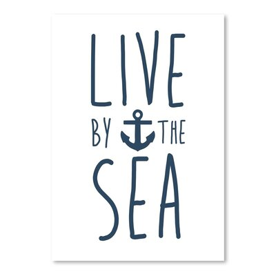 Americanflat 'Live by the Sea' by Jetty Printables Graphic Art