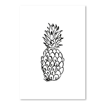 Americanflat 'Black Pineapple' by Jetty Printables Graphic Art