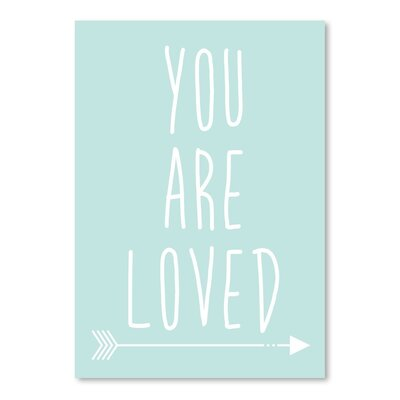 Americanflat 'Mint You Are Loved' by Jetty Printables Typography