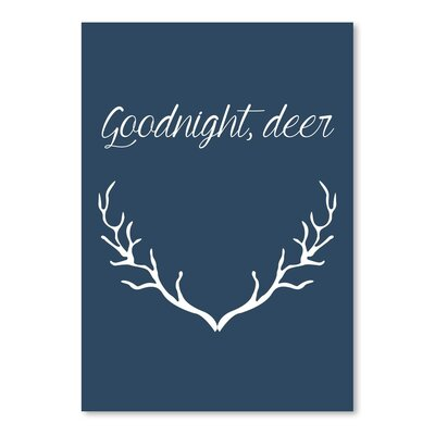 Americanflat 'Good Night Deer' by Jetty Printables Typography