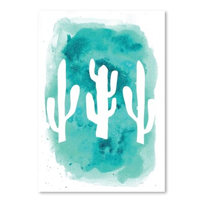 Americanflat 'Watercolour Background Cactus' by Jetty Printables Graphic Art