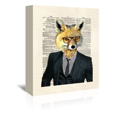 Americanflat 'Fox Suit' by Matt Dinniman Graphic Art Wrapped on Canvas
