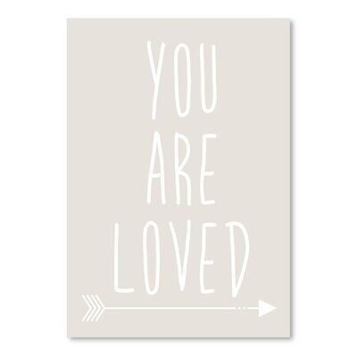 Americanflat 'Beige White You Are Loved' by Jetty Printables Typography