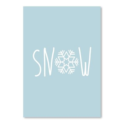 Americanflat 'Blue White Snow Snowfake' by Jetty Printables Graphic Art