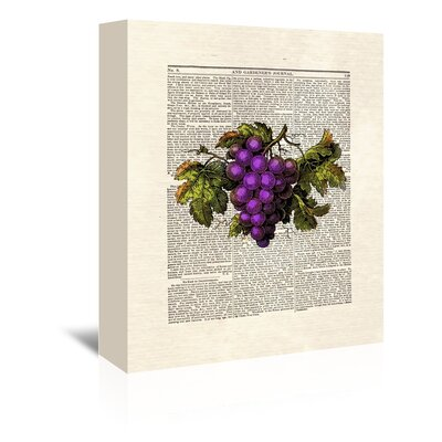 Americanflat 'Grapes' by Matt Dinniman Graphic Art Wrapped on Canvas