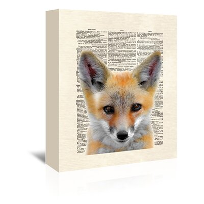 Americanflat 'Fox Face' by Matt Dinniman Graphic Art Wrapped on Canvas