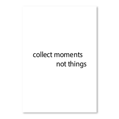 Americanflat 'Collect Moments' by Jetty Printables Typography