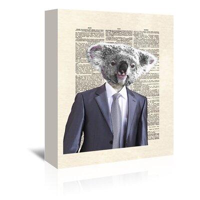 Americanflat 'Koalasuit' by Matt Dinniman Graphic Art Wrapped on Canvas
