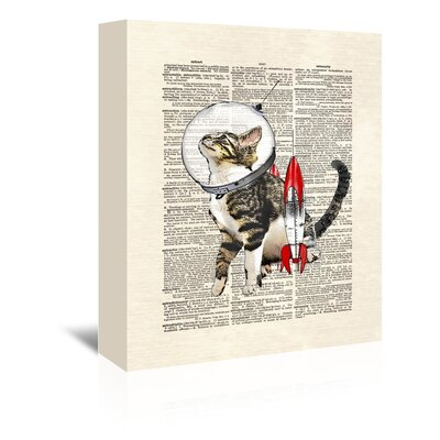 Americanflat 'Space cat' by Matt Dinniman Graphic Art Wrapped on Canvas